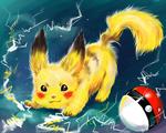 Обои Pikachu / Пикачу из аниме Pokemon / Покемон, by IPPO-Lita