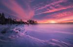 Обои Зимний день на Ringerike, Norway / Ringerike, Норвегия, by Ole Henrik Skjelstad