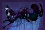 Обои Фантастический зверь с длинным хвостом, the Silver Moon Quilldog
