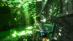 Обои Девушка с лилией сидит на скамейке под водой, by Y_Y