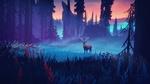 Обои Олень в туманном лесу, by Mikael Gustafsson