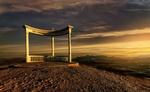 Обои Памятник архитектуры (Звездопад воспоминаний) на закате, Крым, фотограф Тамара