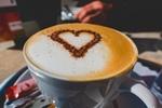 Обои Чашка кофе с сердечком на пенке