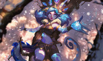 Обои Neeko / Нико из игры League of Legends / Лига Легенд, by Atey Ghailan