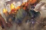 Обои Levi / Леви на фоне убитого титана из аниме Shingeki no Kyojin / Вторжение гигантов