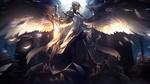 Обои Silver Kayle / Серебряная Кейл из игры League of Legends / Лига Легенд