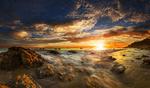 Обои Закат солнца над побережьем Малибу