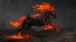 Обои Огненный конь-демон Ruin / Разрушитель, by Daniel Kamarudin