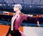 Обои Фигурист Victor Nikiforof / Виктор Никифоров во время выступления, из аниме Юрий на льду! / Yuri on Ice!