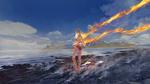 Обои Девочка с огненными волосами, by Wayne Chan
