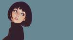 Обои Девушка с короткими волосами, художник Кувшинов Илья