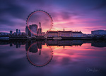 Обои Колесо обозрения London Eye, Thames, London / London Eye, Темза, Лондон, by Didier Lanore
