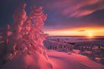 Обои Заполярный закат. Фотограф Оборотов Алексей