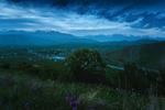 Обои Вечерние сумерки над долиной реки Нарын, заповедник Эки-Нарын, Киргизия. Фотограф Оборотов Алексей