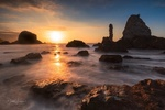 Обои Тихий закат в Playa del Silencio / Плайя-дель-Силенсио, by Didier Lanore