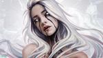 Обои Белокурая девушка с голубыми глазами, by sashajoe