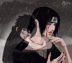 Обои Раненный Uchiha Itachi / Учиха Итачи вспоминает брата Sasuke / Саске из аниме Наруто / Naruto