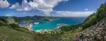 Обои Fort Hill auf die Bucht von Road Town, Tortola / Форт Хилл и Бухта фон Роуд Таун, Тортола. Фотограф David Kirsch