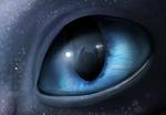 Обои Глаз Light Fury / Светлая Ярость из мультфильма How to Train Your Dragon / Как приручить дракона, by A-roura