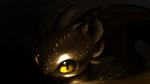 Обои Toothless, Night Fury / Ночная Фурия Беззубик из мультфильма How to Train Your Dragon / Как приручить дракона, by A-roura