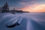 Обои Зимнее утро в Ромсдалене, Норвегия / Romsdalen, Norway, by Ole Henrik Skjelstad