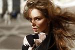 Обои Модель Лиза с развевающимися волосами, by Ivan Proskurin
