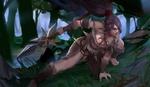 Обои Nidalee / Нидали из игры League of Legends / Лига Легенд, by DAHEIZHU