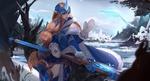 Обои Soraka / Сорака из игры League of Legends / Лига Легенд, by DAHEIZHU