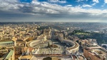 Обои Ватикан с высоты птичьего полета