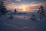 Обои Последнее дыхание зимы на Рингерике, Норвегия, фотограф Ole Henrik Skjelstad