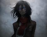 Обои Микаса Аккерман / Mikasa Ackerman из аниме Вторжение гигантов / Shingeki no Kyojin, by Jacob Noble