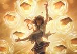 Обои Девушка в белой рубашке управляет огненной стихией, арт к аниме Fate / stay night / Судьба / Ночь схватки, by Jacob Noble