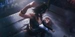 Обои Две кибер-девушки в бою на ринге, by tian zi