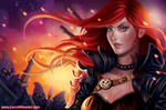 Обои Katarina / Катарина из игры League of Legends / Лига Легенд, by Larry Wilson
