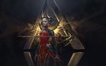 Обои Devil Mercy / Дьявол Ангела Циглер из игры Overwatch / Дозор, by Isuardi Therianto