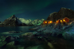 Обои Вечер в бухте Рейне, Lofoten Islands, Norway / Лофотенские острова, Норвегия, фотограф Михалюк Сергей