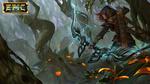 Обои Девушка-лучник в forgotten forest / забытом лесу, арт к игре EPIC, by bramasta aji