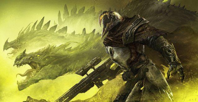 Воин с автоматом и драконы, by fang xinyu