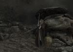 Обои Девушка-воин стоит у каменного выступа с мечом около щита, на котором сидит сова, by Cecilia G. F