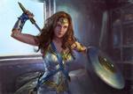 Обои Diana / Диана из фильма Wonder Woman / Чудо-Женщина, by Xiaoting Li