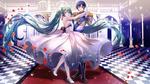 Обои Vocaloid Hatsune Miku / вокалоид Хацунэ Мику и Шион Кайто / Shion Kaito танцуют