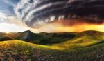 Обои Ураган в степи, фотоколлаж, фотограф Сагайдак Павел