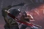 Обои Воин в шлеме в бою с оборотнями, by Mingchen Shen