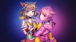 Обои Две девушки с кошачьими ушками, by AssassinWarrior