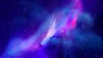 Обои Розовые космические включения на голубой туманности, by JoeyJazz