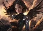 Обои Alita / Алита, аниме Alita - Battle Angel / Алита - Боевой ангел, by sakimichan