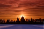 Обои Успенский собор Иверского монастыря на Валдае. Фотограф Тимофей Шутов