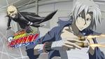 Обои Гокудера Хаято / Hayato Gokudera и Belphegor сражаются из аниме Репетитор-киллер Реборн! / Katekyo Hitman Reborn!