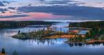Обои Осенняя заря над Ладожскими островами, Карелия, фотограф Лашков Федор