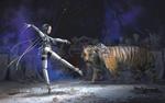 Обои Little dancer with tiger / Маленькая танцовщица с тигром, by Yujin Choo